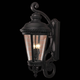 Murray Feiss OL1905BK Castle Outdoor Lantern Wall Brkt in Black finish with Clear - Bent & Beveled Glass