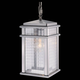Murray Feiss OL3411BRAL Mission Lodge Hanging Lantern in Brushed Aluminum finish with Clear checked glass