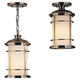 Murray Feiss OL2209BS Lighthouse Duomount Hanging Lantern in Brushed Steel finish with Opal etched glass