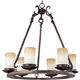 Maxim 10975WSOI Notre Dame 6-Light Chandelier in Oil Rubbed Bronze with Wilshire glass.