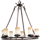 Maxim 10976WSOI Notre Dame 8-Light Chandelier in Oil Rubbed Bronze with Wilshire glass.