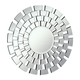 Modern 32 in. Contemporary Mirror in Clear