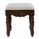 16 inch Dressing stool Teak color