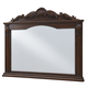 Windsor 50 in. Traditional Mirror in Teak color