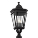 Cotswold-Lane 3-Light-Post-Lantern in Black