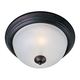 Essentials 2-Light Flush Mount in Oil Rubbed Bronze