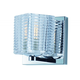 Groove LED 1-Light Wall Sconce in Polished Chrome