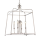 Libby Langdon for Crystorama Sylvan 4 Light Polished Nickel Chandelier