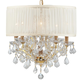 Brentwood 6 Light Crystal Gold Drum Shade Mini Chandelier I