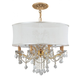 Brentwood 12 Light Smooth Shade Gold Chandelier