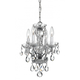 Traditional Crystal Spectra 4 Light Chrome Mini Chandelier