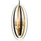Luna 6 Light English Bronze And Antique Gold Pendant
