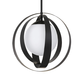 Arlo 1 Light Matte Black Chandelier