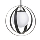 Arlo 1 Light Matte Black Large Chandelier