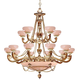 Natural Alabaster 20 Light French White Chandelier