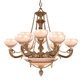 12 Light French White Chandelier