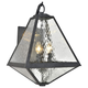 Brian Patrick Flynn For Crystorama Glacier 3 Light Black Charcoal Outdoor Wall Mount