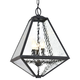 Brian Patrick Flynn For Crystorama Glacier 3 Light Black Charcoal Outdoor Chandelier