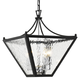 Park Hill 4 Light Matte Black And Polished Chrome Small Lantern