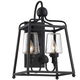 Libby Langdon for Crystorama Sylvan 2 Light Black Forged Outdoor Wall Mount