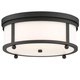 Libby Langdon for Crystorama Sylvan Outdoor 3 Light Ceiling Mount