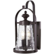 Sycamore Trail 3 Light Outdoor Wall Mount In Dorian Bronze