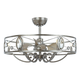 Maxim Maxim 60013SM Solitaire 6-Light LED Fandelier in Silver Mist in Silver Mist