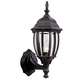 Bent Glass Cast Aluminum Small Wall Mount w/Photocell in Textured Matte Black