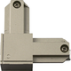 Progress P8721-8909 Outside polarity L connector in Brushed Nickel finish.
