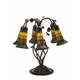 Meyda Tiffany 102415 Tiffany Pond Lily Amber And Green 6 Lt Table Lamp