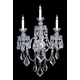 Crystorama 1043-CH-CL-MWP Clear hand cut crystal wall sconce