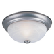 Designers Fountain 1257S-PW-AL Small Flushmount in Pewter finish with White Alabaster glass