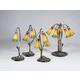 Meyda Tiffany 12939 Amber/Green Pond Lily 2 Lt Accent Lamp in Mahogany Bronze finish