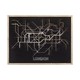Tubetime Grey with Black 24-Inch Wood and Glass London Tubemap Wall Decor