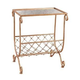 Copper Side Table with Magazine Rack