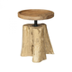 Espirito Candle Holders in Aged Gold w/Natural Woodtone