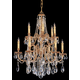 Crystorama 2712-OB-CL-SAQ Ornate Cast Brass Chandelier Accented with Swarovski Spectra Crystal