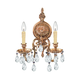Crystorama 2902-OB-CL-MWP Ornate Cast Brass Chandelier Accented with Clear Hand Cut Crystal