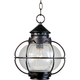 Maxim 30506CDOI Portsmouth 1-Light Outdoor Hanging Lantern in Oil Rubbed Bronze with Seedy glass.