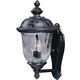Maxim 3422WGOB Carriage House DC 2-Light Outdoor Wall Lantern in Oriental Bronze with Water Glass glass.