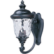 Maxim 3423WGOB Carriage House DC 2-Light Outdoor Wall Lantern in Oriental Bronze with Water Glass glass.
