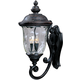 Maxim 3424WGOB Carriage House DC 3-Light Outdoor Wall Lantern in Oriental Bronze with Water Glass glass.