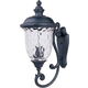 Maxim 3425WGOB Carriage House DC 3-Light Outdoor Wall Lantern in Oriental Bronze with Water Glass glass.