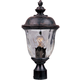 Maxim 3426WGOB Carriage House DC 1-LT Outdoor Pole/Post Lantern in Oriental Bronze with Water Glass glass.