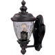 Maxim 3495WGOB Carriage House DC 1-Light Outdoor Wall Lantern in Oriental Bronze with Water Glass glass.