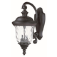 Maxim 3496WGOB Carriage House DC 2-Light Outdoor Wall Lantern in Oriental Bronze with Water Glass glass.