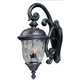 Maxim 3497WGOB Carriage House DC 3-Light Outdoor Wall Lantern in Oriental Bronze with Water Glass glass.