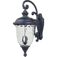 Maxim 3498WGOB Carriage House DC 3-Light Outdoor Wall Lantern in Oriental Bronze with Water Glass glass.