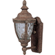 Maxim 40283WGET Morrow Bay VX 1-Light Outdoor Wall Lantern in Earth Tone with Water Glass glass.