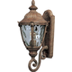 Maxim 40284WGET Morrow Bay VX 1-Light Outdoor Wall Lantern in Earth Tone with Water Glass glass.